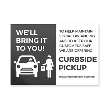 Curbside Pick Up Window Cling, CANADA, Pack of 8, Multiple colors