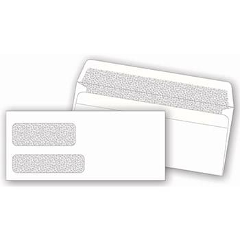 Double Window Confidential Envelope, Self-Seal