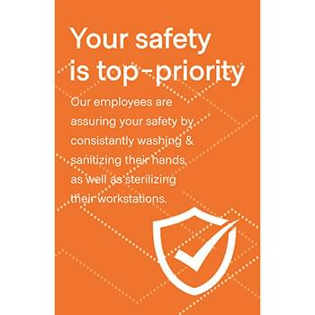 Employee Safety Window Cling, CANADA, Pack of 8, Multiple colors