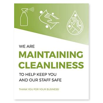 Maintaining Cleanliness Window Cling, CANADA, Pack of 8, Multiple colors