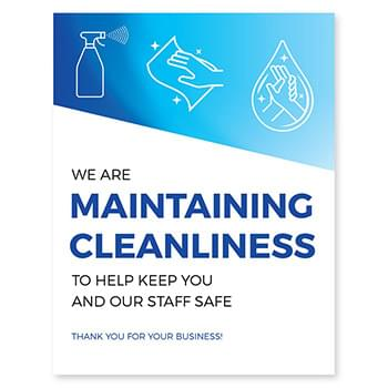 Maintaining Cleanliness Posters, CANADA, Pack of 6, Multiple colors