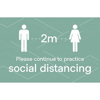 Social Distancing Posters, CANADA, Pack of 6, Multiple colors
